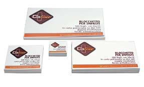 Blocchi impasto carta